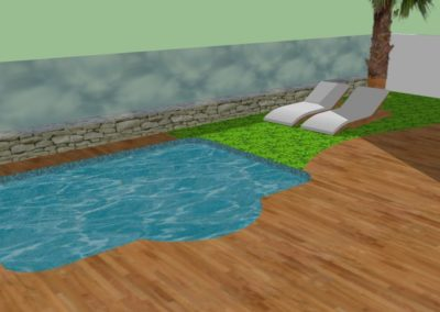 New Garden with Pool